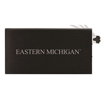 8000 mAh Portable Cell Phone Charger-Eastern Michigan University-Black