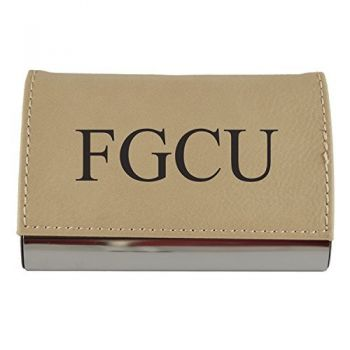 Velour Business Cardholder-Florida Gulf Coast University-Tan