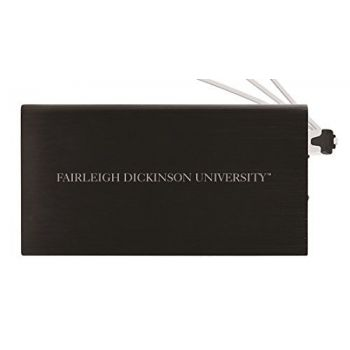 8000 mAh Portable Cell Phone Charger-Fairleigh Dickinson University -Black