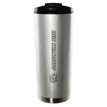 Jacksonville State University-16oz. Stainless Steel Vacuum Insulated Travel Mug Tumbler-Silver