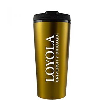 Loyola University Chicago -16 oz. Travel Mug Tumbler-Gold