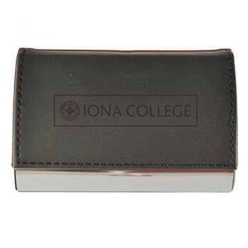 Velour Business Cardholder-Iona College-Black