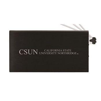 8000 mAh Portable Cell Phone Charger-California State University, Northridge -Black