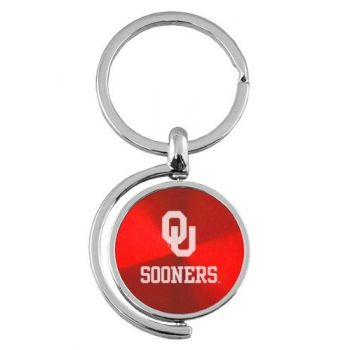 University of Oklahoma - Spinner Key Tag - Red