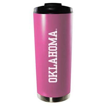 University of Oklahoma-16oz. Stainless Steel Vacuum Insulated Travel Mug Tumbler-Pink