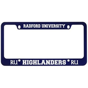 Radford University -Metal License Plate Frame-Blue