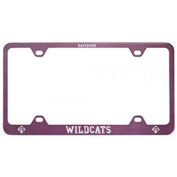 Davidson College-Metal License Plate Frame-Pink
