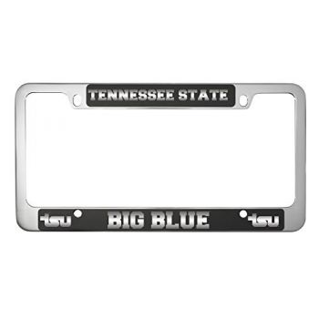 Tennessee State University -Metal License Plate Frame-Black