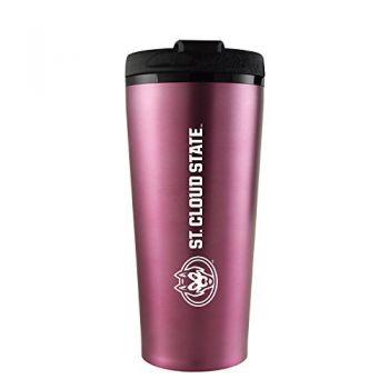 St. Cloud State University -16 oz. Travel Mug Tumbler-Pink