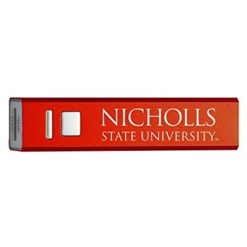 Nicholls State University - Portable Cell Phone 2600 mAh Power Bank Charger - Red