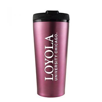 Loyola University Chicago -16 oz. Travel Mug Tumbler-Pink