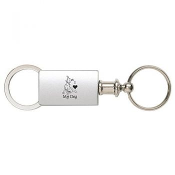 Detachable Valet Keychain Fob  - I Love My Dog