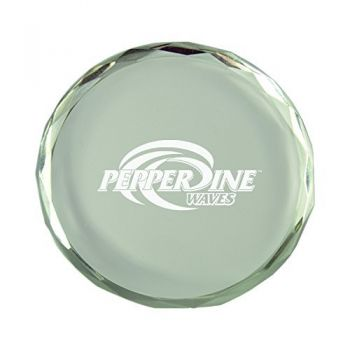 Pepperdine university-Crystal Paper Weight