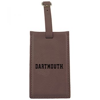 Dartmouth College-Leatherette Luggage Tag-Brown
