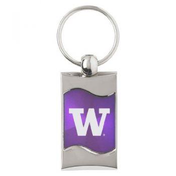 University of Washington - Wave Key Tag - Purple