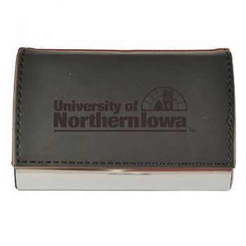 Velour Business Cardholder-University of Northern Iowa-Black