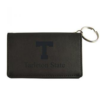 Velour ID Holder-Tarleton State University-Black