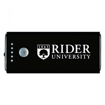 Rider University -Portable Cell Phone 5200 mAh Power Bank Charger -Black