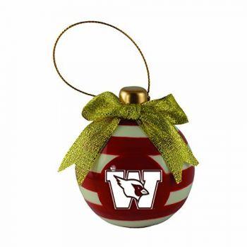 Wesleyan University -Christmas Bulb Ornament