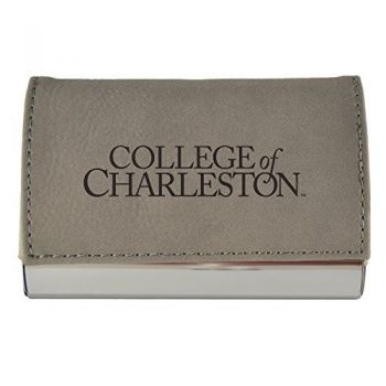 Velour Business Cardholder-College of Charleston-Grey