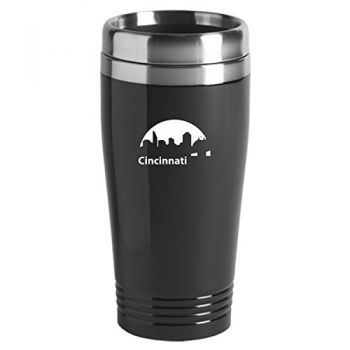 16 oz Stainless Steel Insulated Tumbler - Cincinnati City Skyline