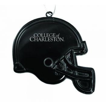 College of Charleston - Christmas Holiday Football Helmet Ornament - Black