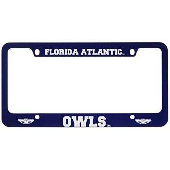 Florida Atlantic University -Metal License Plate Frame-Blue