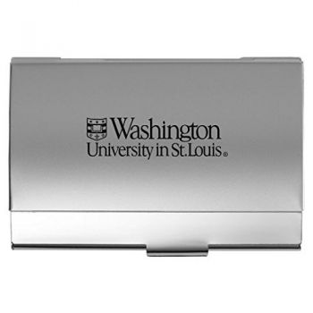 Washington University in St. Louis - Two-Tone Business Card Holder - Silver