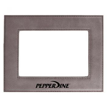 Pepperdine university-Velour Picture Frame 4x6-Grey