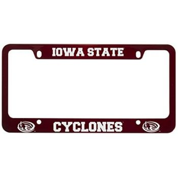 Iowa State University -Metal License Plate Frame-Red