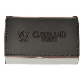 Velour Business Cardholder-Cleveland State University-Black