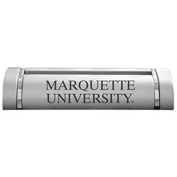 Marquette University-Desk Business Card Holder -Silver