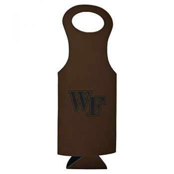 Wake Forest University-Velour Wine Tote-Brown