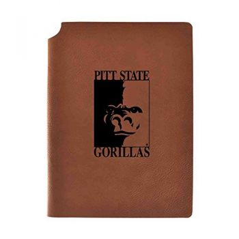 Pittsburg State University Velour Journal with Pen Holder Carbon Etched Officially Licensed Collegiate Journal 