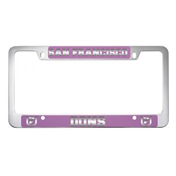 University of San Francisco -Metal License Plate Frame-Pink