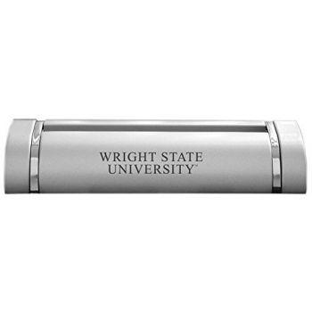 Wright State University-Desk Business Card Holder -Silver