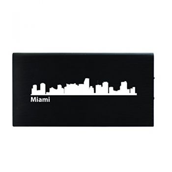 Quick Charge Portable Power Bank 8000 mAh - Miami City Skyline
