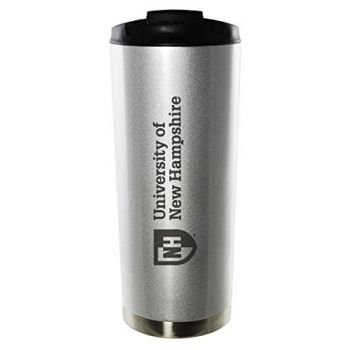 University of New Hampshire-16oz. Stainless Steel Vacuum Insulated Travel Mug Tumbler-Silver