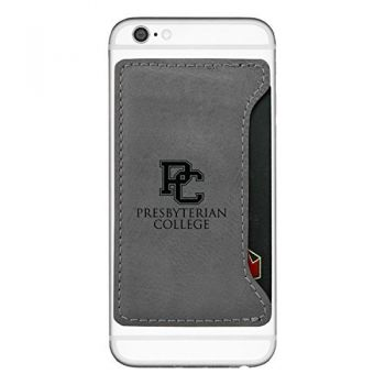 Presbyterian College-Cell Phone Card Holder-Grey