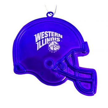 Western Illinois University - Christmas Holiday Football Helmet Ornament - Purple