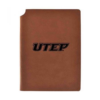 The University of Texas at El Paso Velour Journal with Pen Holder Carbon Etched Officially Licensed Collegiate Journal 