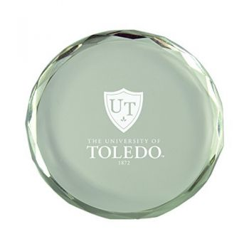 University of Toledo-Crystal Paper Weight