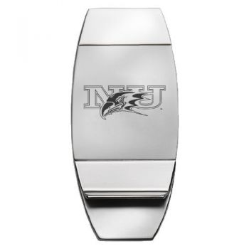 Niagara University - Two-Toned Money Clip - Silver