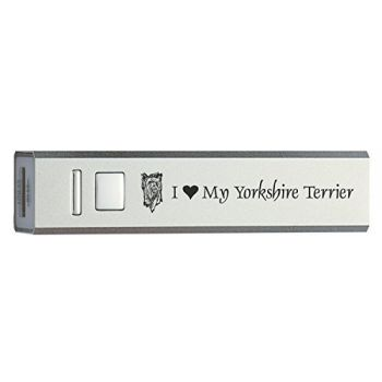 Quick Charge Portable Power Bank 2600 mAh  - I Love My Yorkie