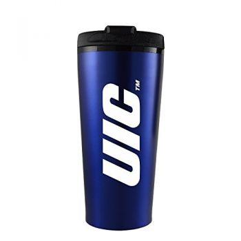 University of Illinois at Chicago-16 oz. Travel Mug Tumbler-Blue