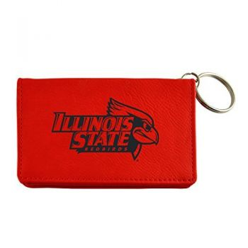 Velour ID Holder-Illinois State University-Red