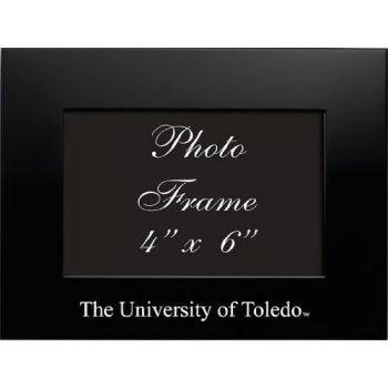 University of Toledo - 4x6 Brushed Metal Picture Frame - Black