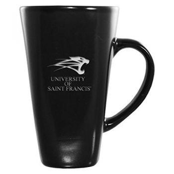 University of Saint Francis-Fort Wayne -16 oz. Tall Ceramic Coffee Mug-Black