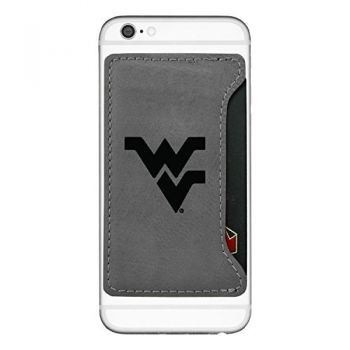 West Virginia University-Cell Phone Card Holder-Grey