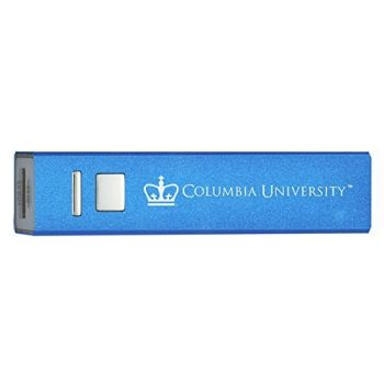 Columbia University - Portable Cell Phone 2600 mAh Power Bank Charger - Blue